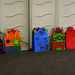 <p>The children designed the form and decoration of the panels. Together the panels form some kind of shelter for the 'Kid's corner'.</p>