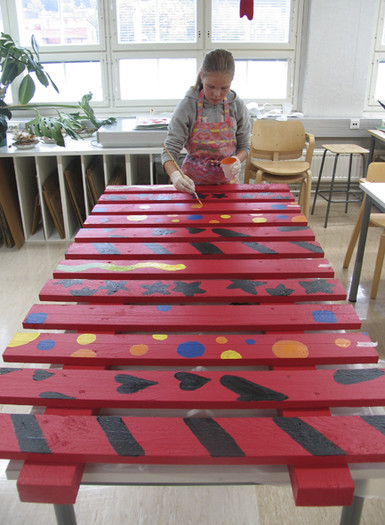<p>We met at saturday morning with both groups (Finding a Park 1 and 2) and painted the figures. It was raining the whole day so we had to paint indoors. </p>